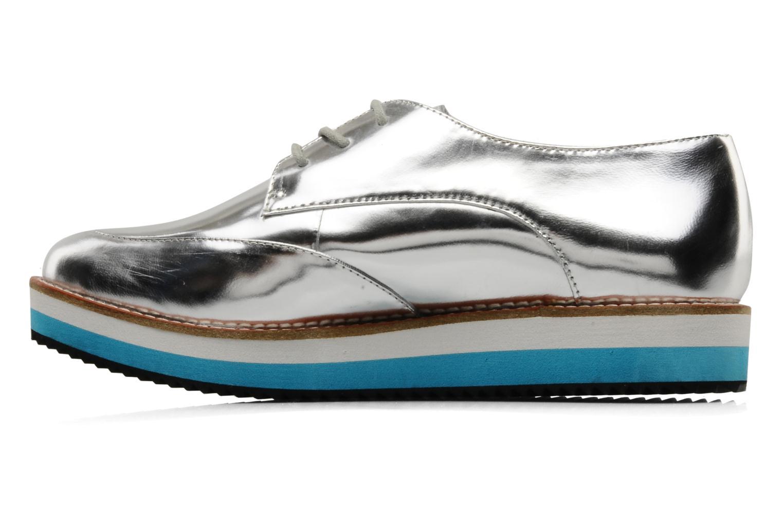 Zapatos con cordones Buffalo Disco Plateado vista de frente