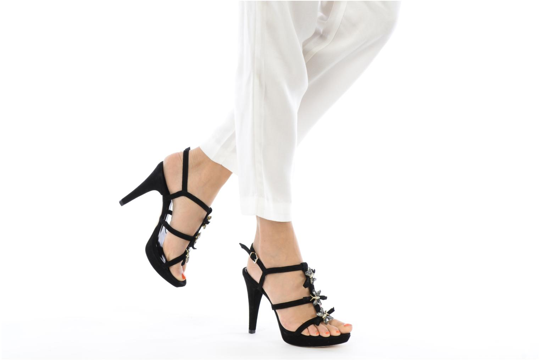 Sandales et nu-pieds Barachini Elmora Noir vue bas / vue portée sac