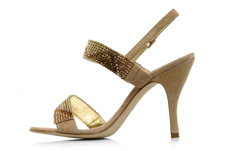 Sandales et nu-pieds Barachini Andrama Beige vue face
