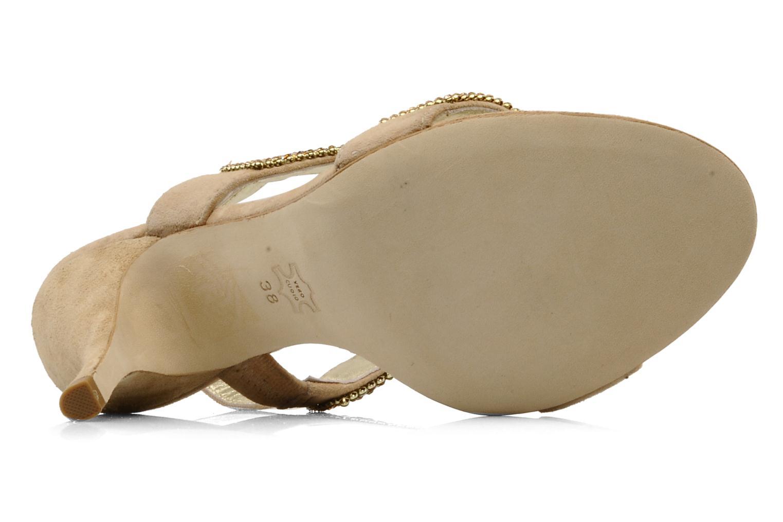 Sandales et nu-pieds Barachini Andrama Beige vue haut