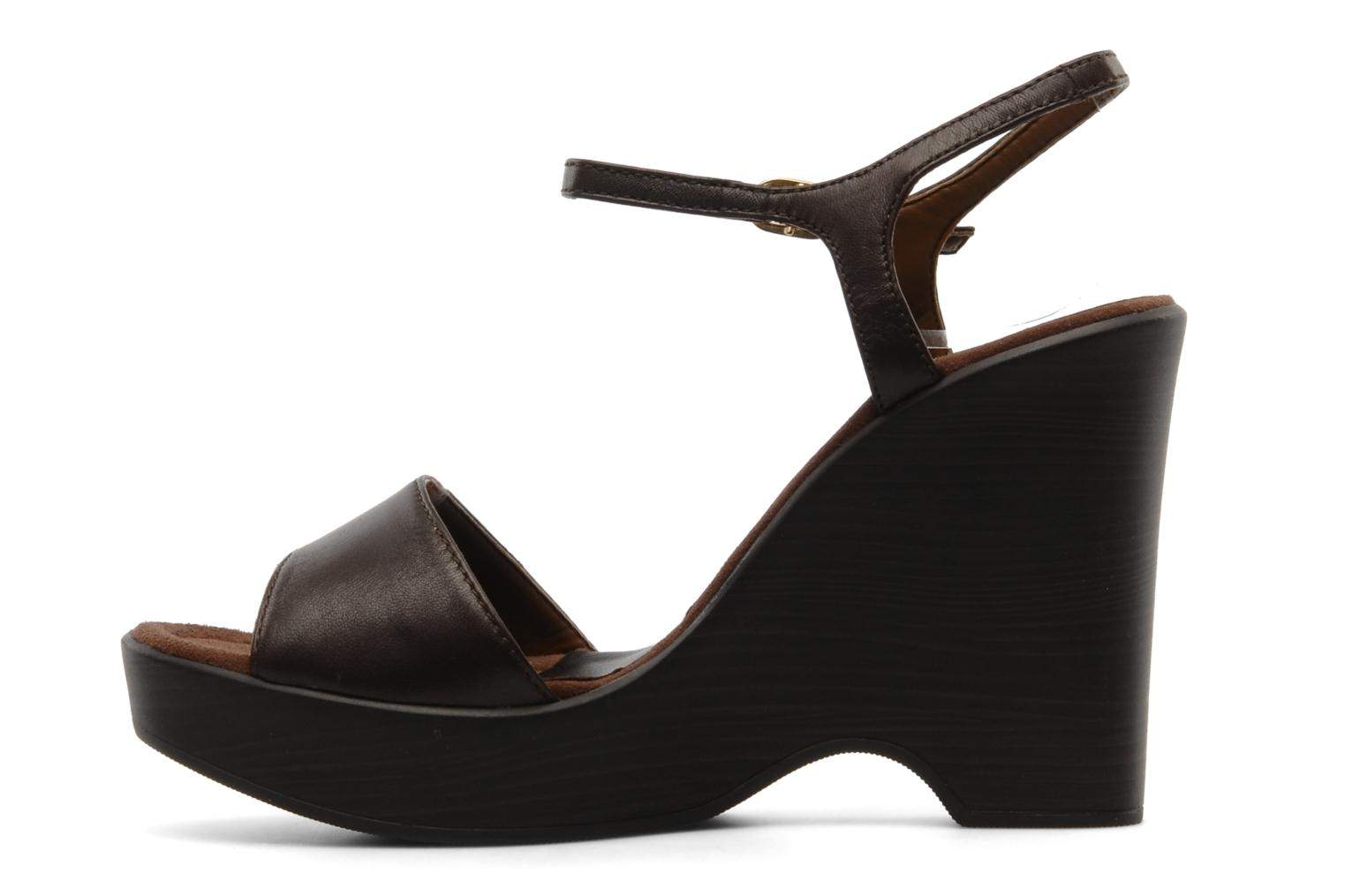 Sandals Unisa Oire Brown front view