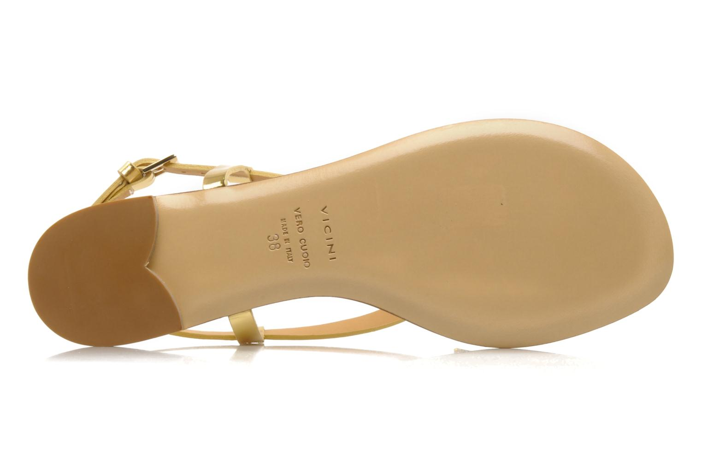 Sandales et nu-pieds Vicini Vada Or et bronze vue haut