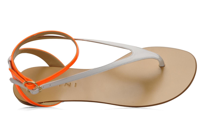 Sandales et nu-pieds Vicini Victorinne Blanc vue gauche