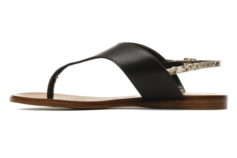 Sandales et nu-pieds Tapeet Tefle Marron vue face