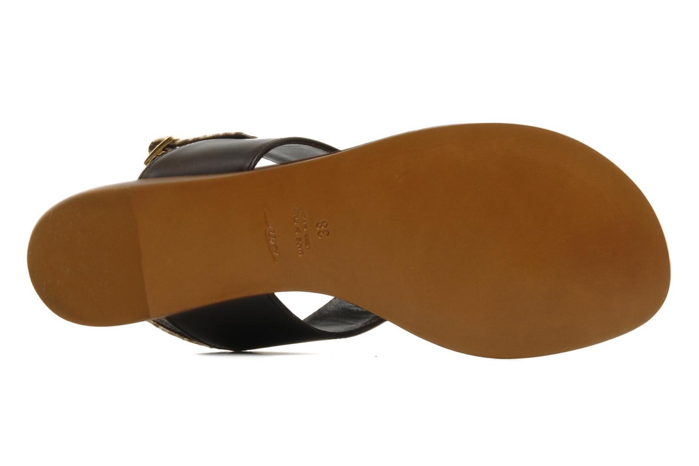 Sandales et nu-pieds Tapeet Tefle Marron vue haut