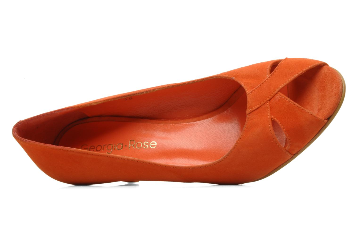 High heels Georgia Rose Magui Orange view from the left