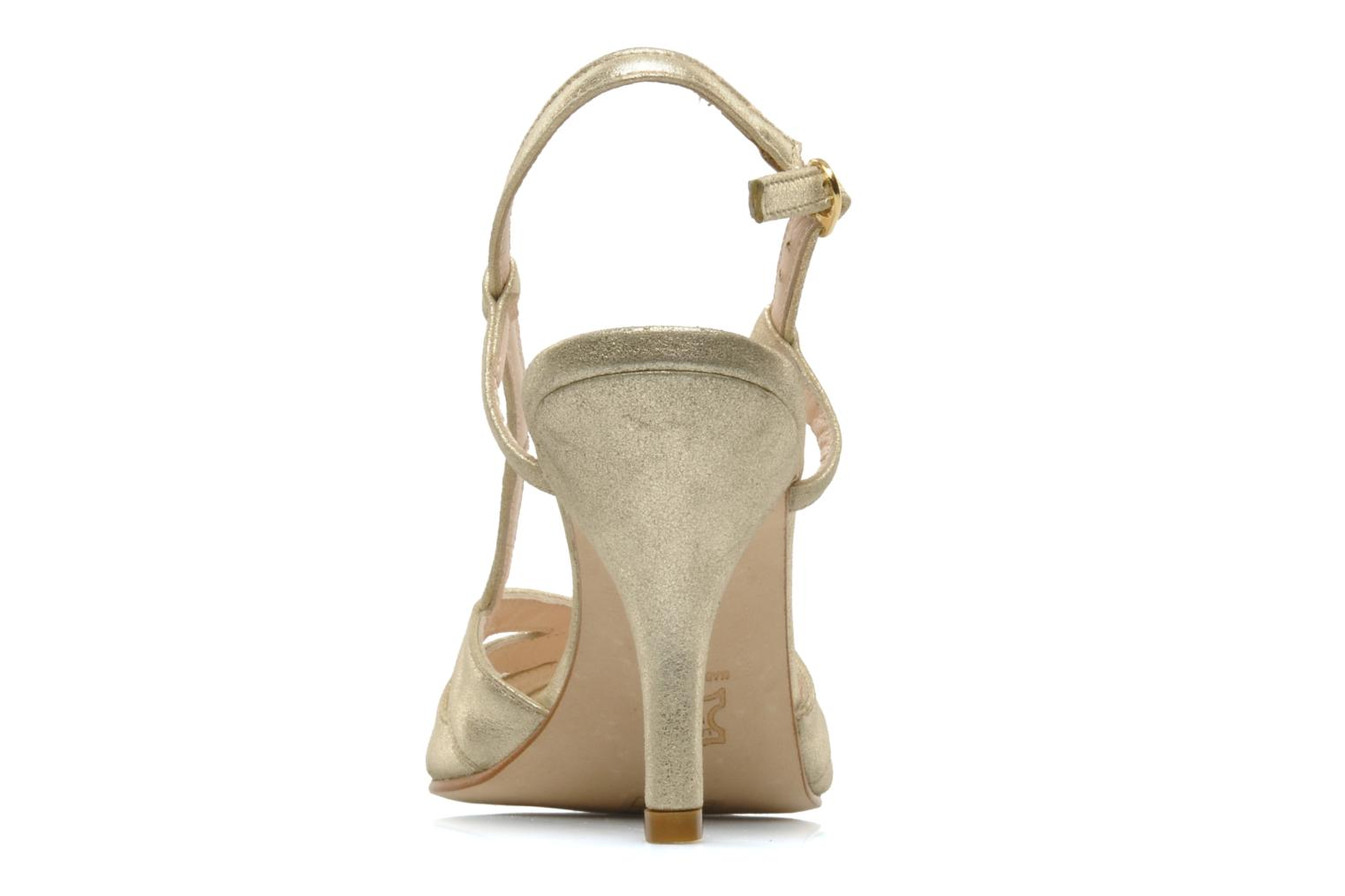 Sandals Georgia Rose Maraki Bronze and Gold view from the right