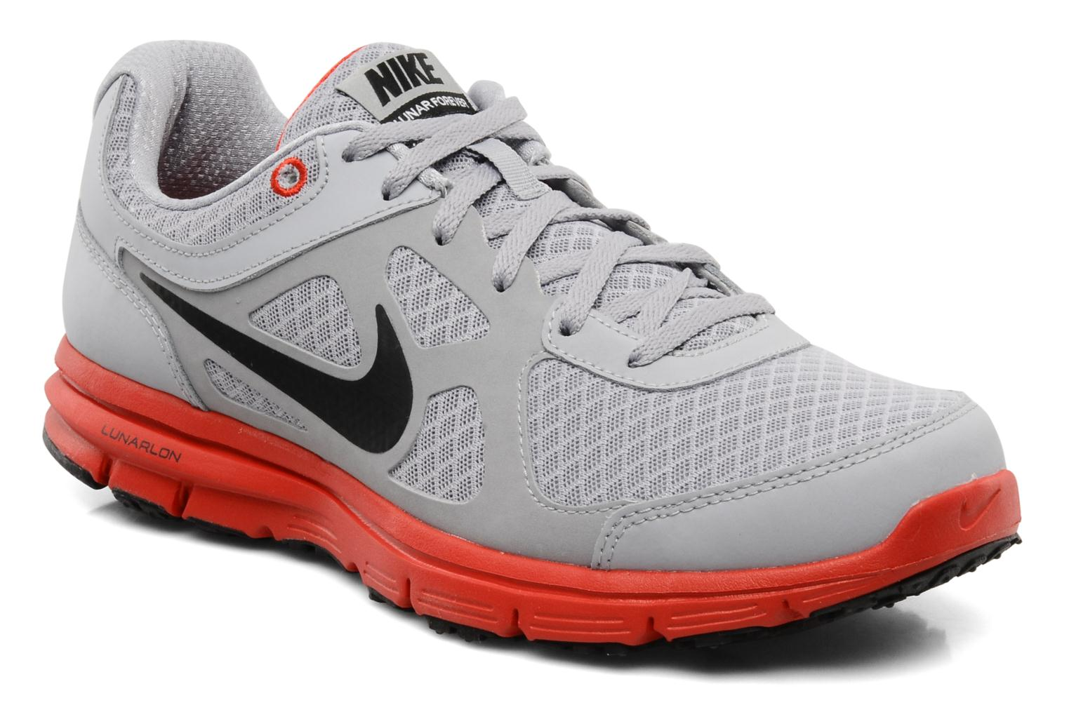 Sport shoes Nike Lunar forever Grey detailed view/ Pair view