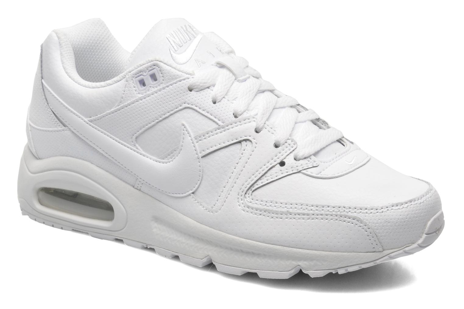 Baskets Nike Air max command leather Blanc vue détail/paire
