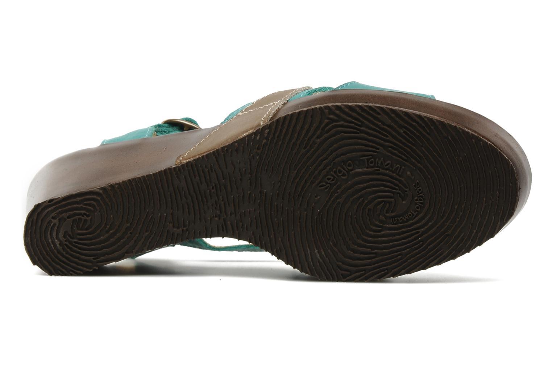 Sandales et nu-pieds Sergio Tomani Mula 3903 Bleu vue haut