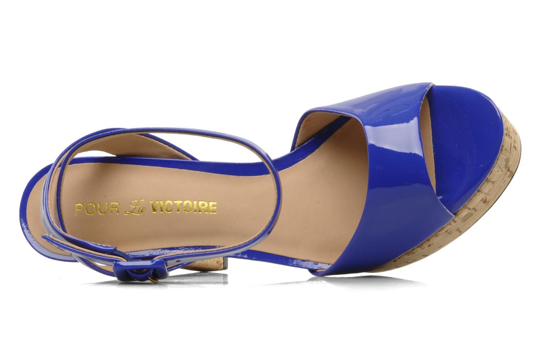 Sandales et nu-pieds Pour La Victoire Nasha Bleu vue gauche