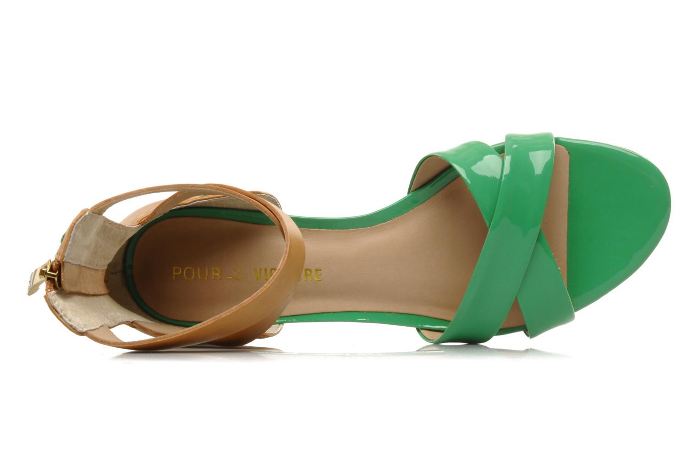 Sandalen Pour La Victoire Fabia grün ansicht von links