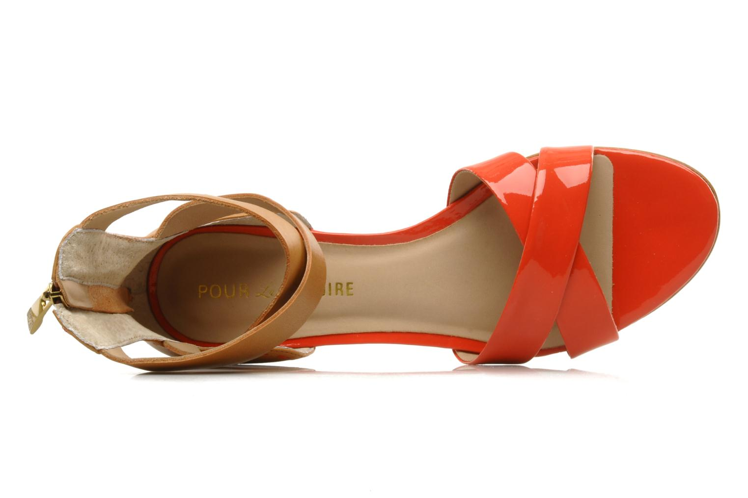 Fabia CORAL RED PATENT