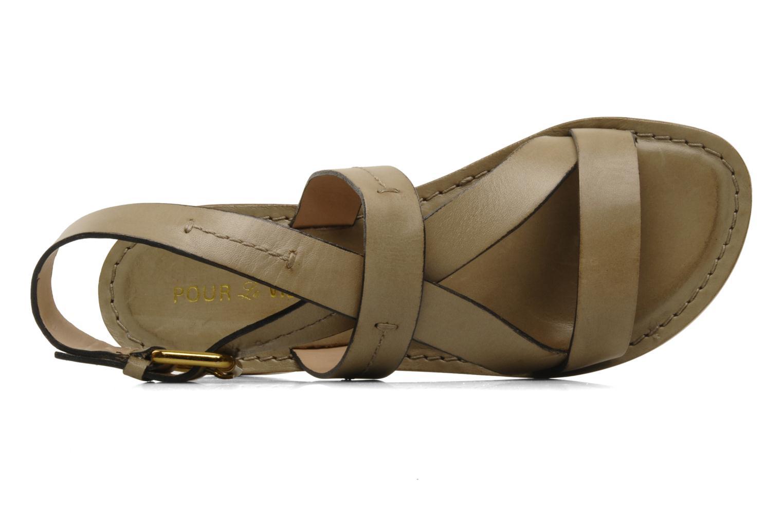 Sandales et nu-pieds Pour La Victoire Mariza Gris vue gauche