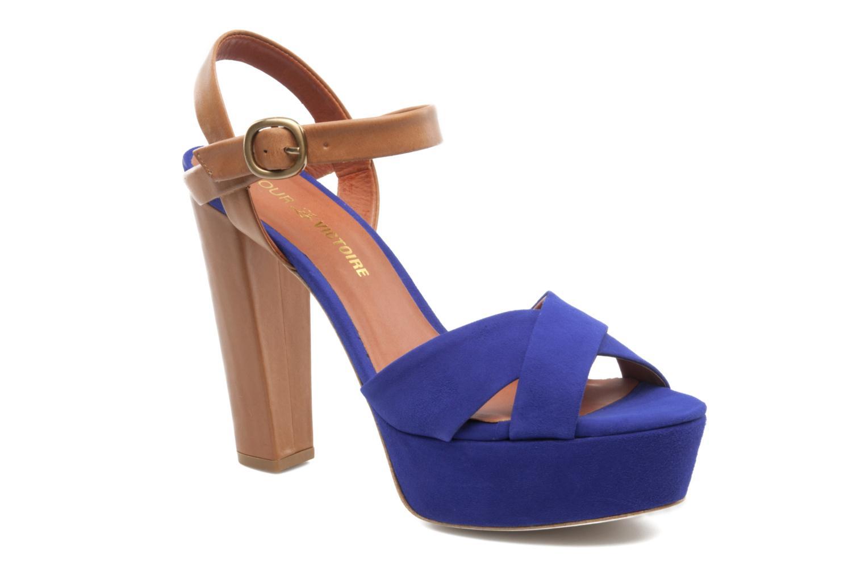 Sandales et nu-pieds Pour La Victoire Neysa Bleu vue détail/paire