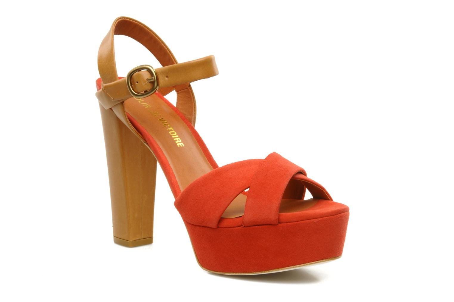 Neysa CORAL RED SUEDE