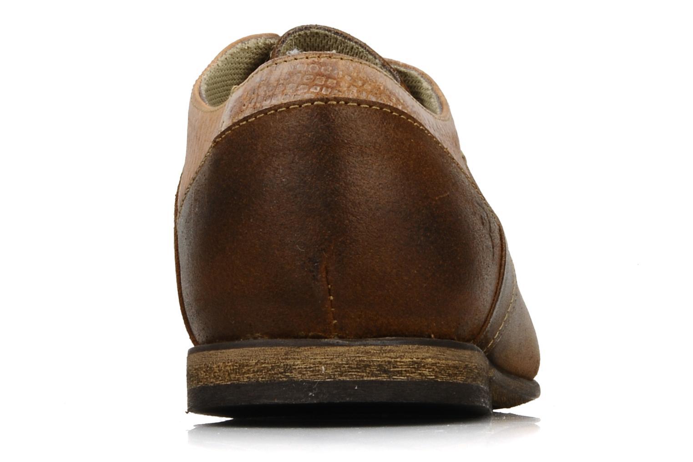 Schnürschuhe Bullboxer Herma braun ansicht von rechts