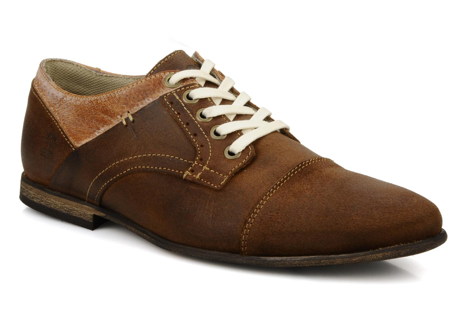 Lace-up shoes Bullboxer Herma Brown detailed view/ Pair view