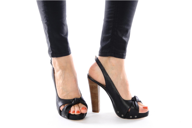 Sandalen Tosca Blu Shoes Ninfea schwarz ansicht von unten / tasche getragen