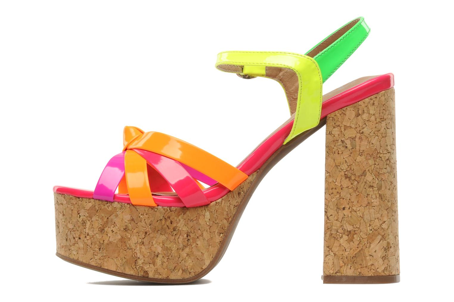 Sandales et nu-pieds Jeffrey Campbell Happy- Cork Multicolore vue face