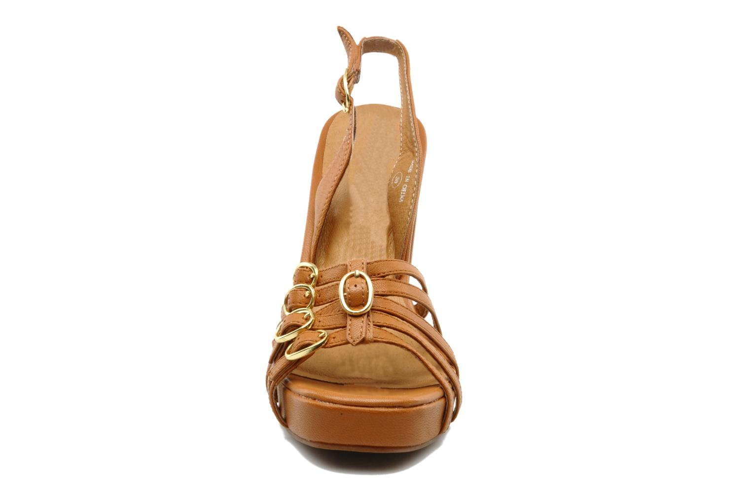 Sandals Jeffrey Campbell Fun Brown model view