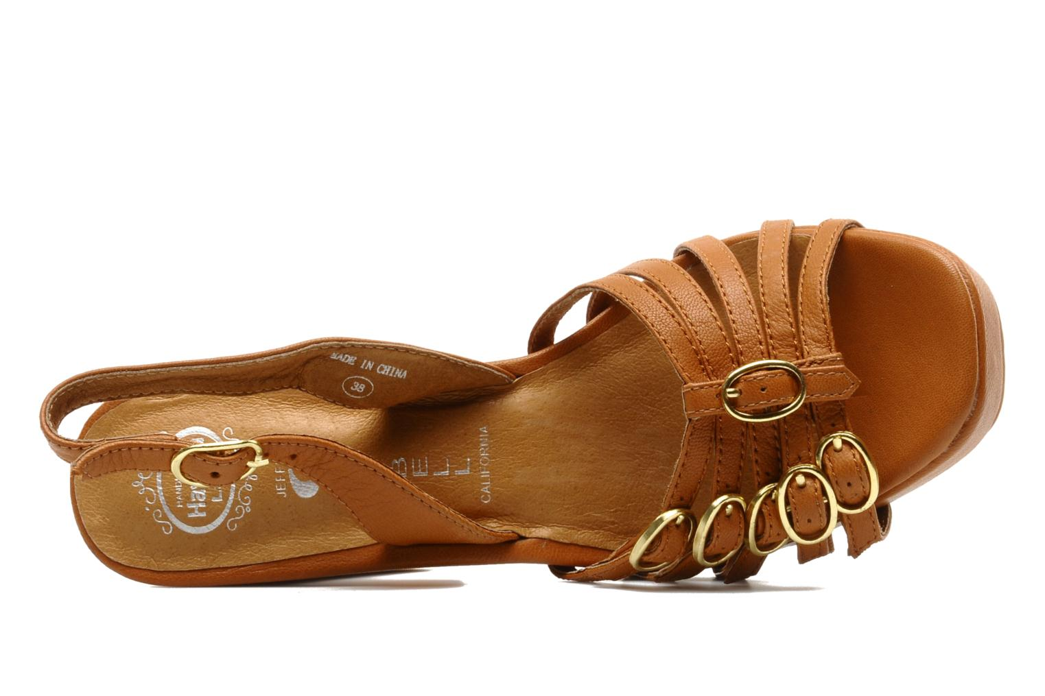 Sandals Jeffrey Campbell Fun Brown view from the left