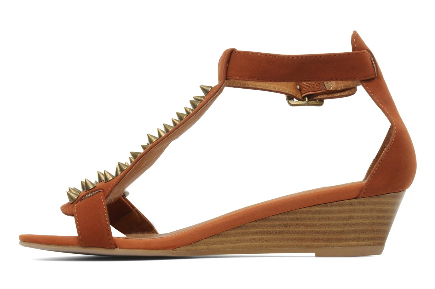 Sandals Jeffrey Campbell Barbary Spike Brown front view