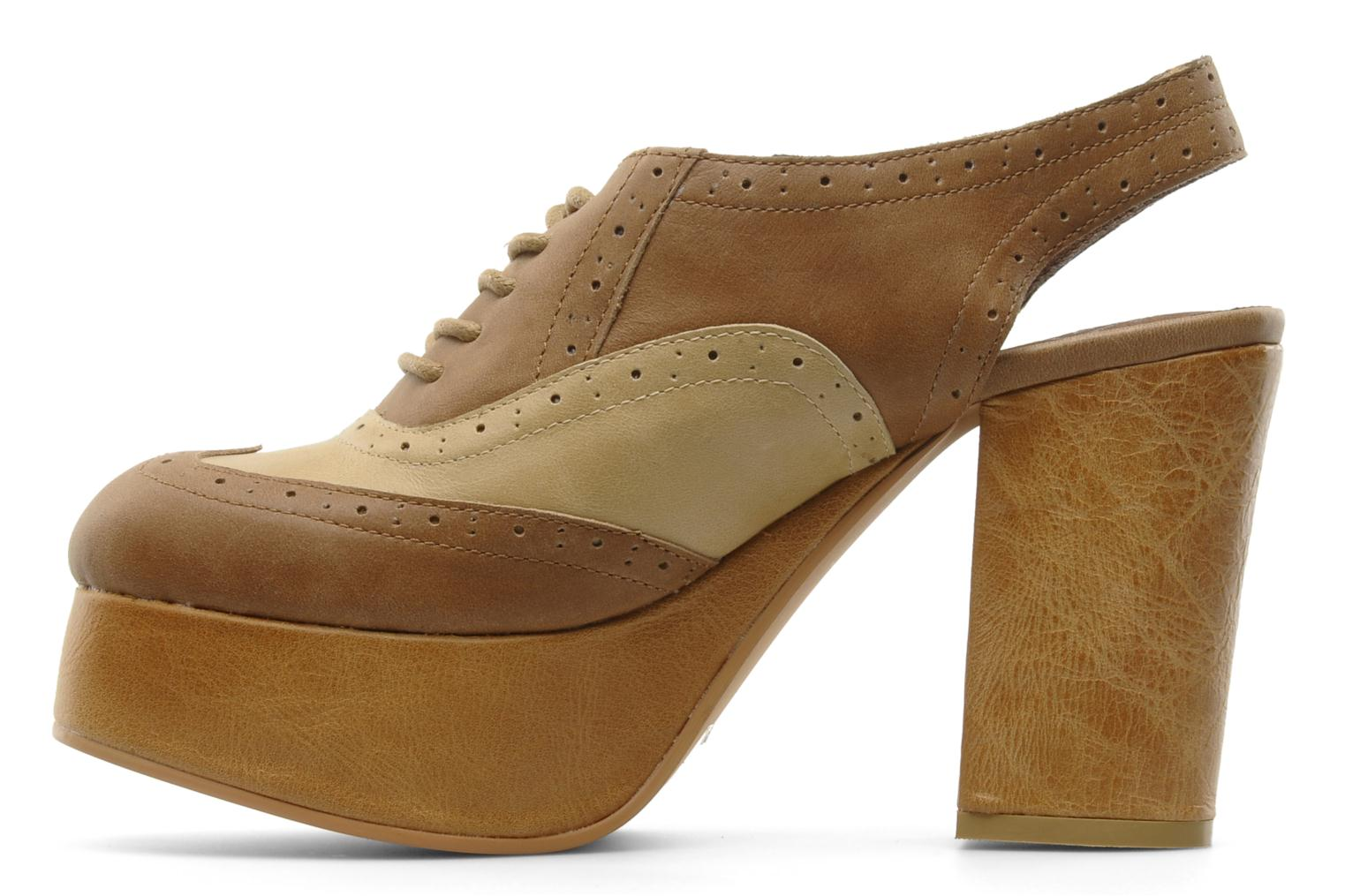 Lace-up shoes Jeffrey Campbell Ditto Beige front view