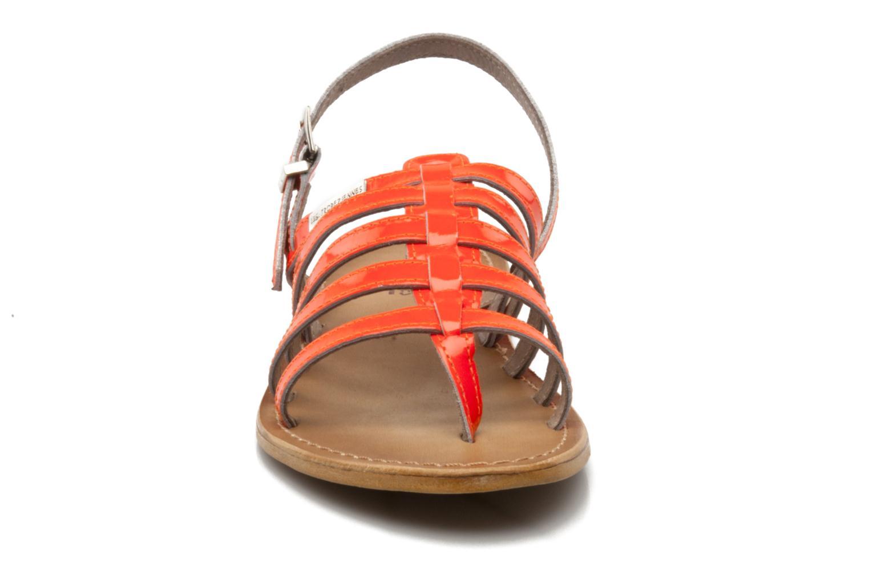 Sandales et nu-pieds Les Tropéziennes par M Belarbi Herflash Orange vue portées chaussures