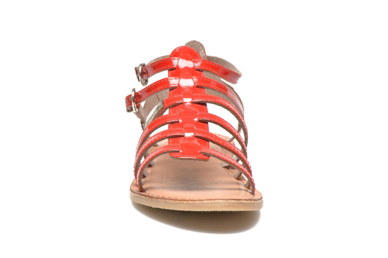 Sandalias Les Tropéziennes par M Belarbi Hic E Rojo vista del modelo