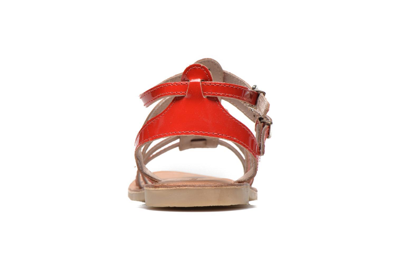 Sandalias Les Tropéziennes par M Belarbi Hic E Rojo vista lateral derecha