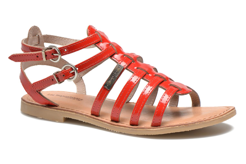 Sandals Les Tropéziennes par M Belarbi Hic E Red detailed view/ Pair view