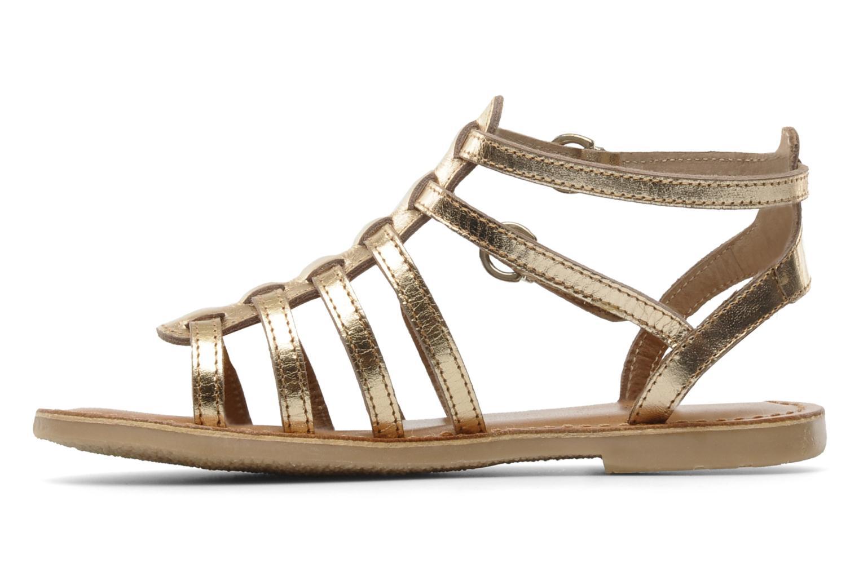 Sandales et nu-pieds Les Tropéziennes par M Belarbi Hic E Or et bronze vue face
