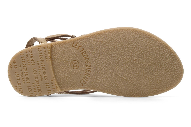 Sandales et nu-pieds Les Tropéziennes par M Belarbi Hic E Or et bronze vue haut