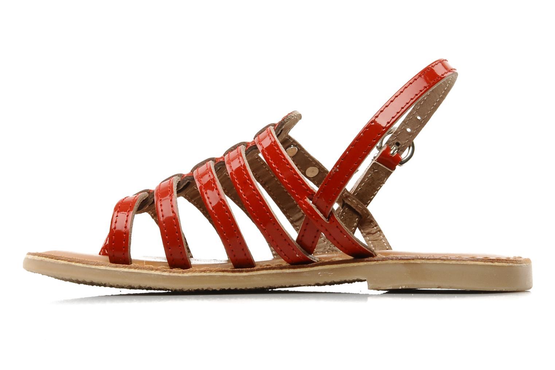 Sandales et nu-pieds Les Tropéziennes par M Belarbi Herisson E Rouge vue face
