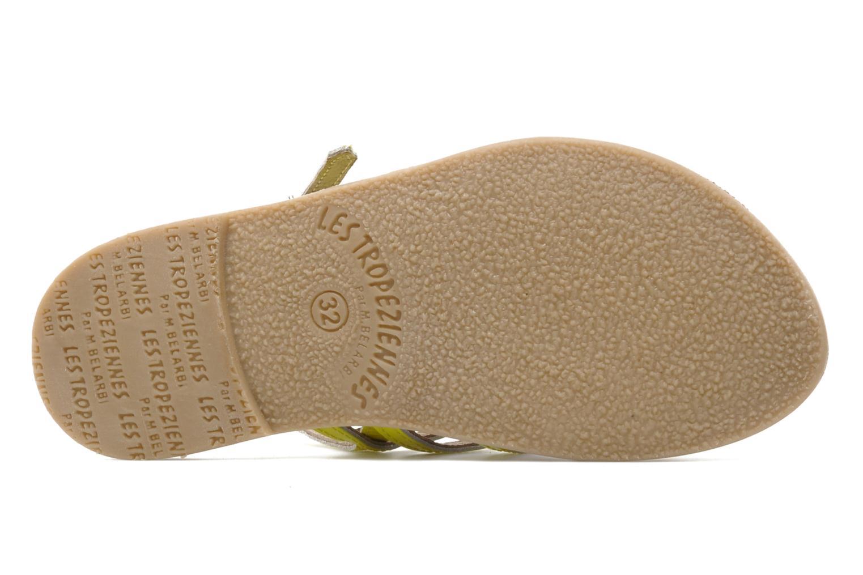 Sandales et nu-pieds Les Tropéziennes par M Belarbi Herflash E Jaune vue haut
