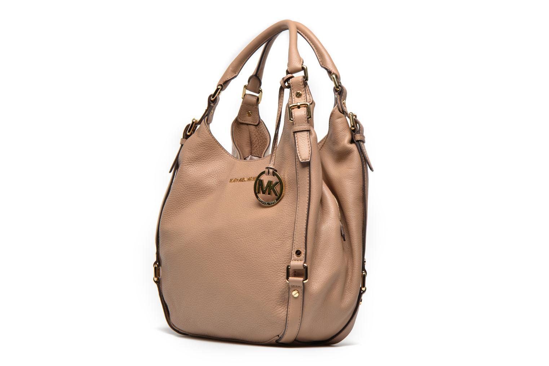 Handtaschen Michael Michael Kors BEDFORD LG Shldr tote beige schuhe getragen