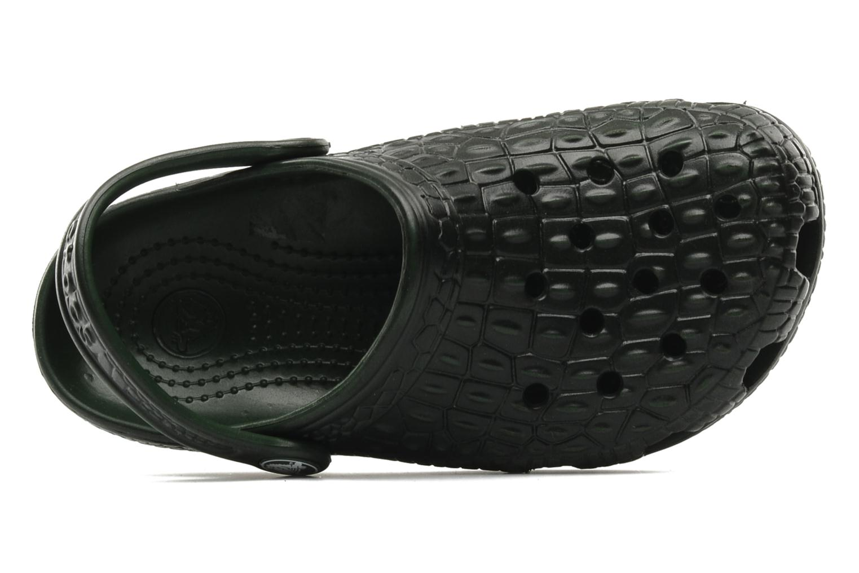 Sandalen Crocs Crocskin Classic Kids grün ansicht von links