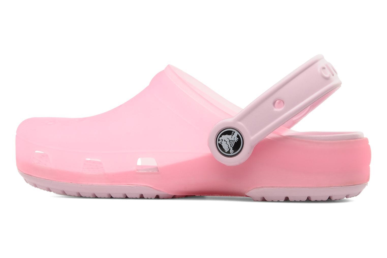 Sandales et nu-pieds Crocs Crocs Chameleons Translucent Clog Kids Rose vue face