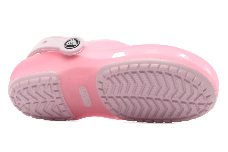 Sandales et nu-pieds Crocs Crocs Chameleons Translucent Clog Kids Rose vue haut