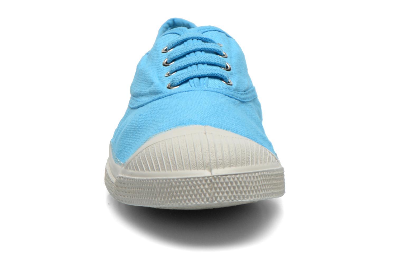 Baskets Bensimon Tennis Lacets Bleu vue portées chaussures