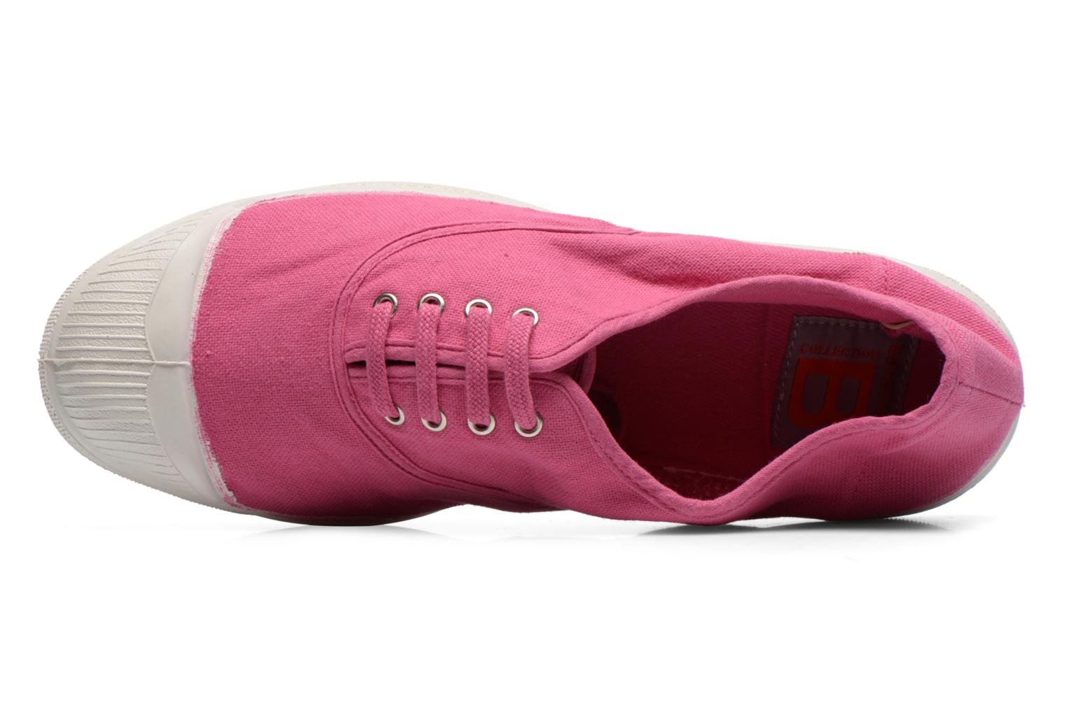Baskets Bensimon Tennis Lacets Rose vue gauche