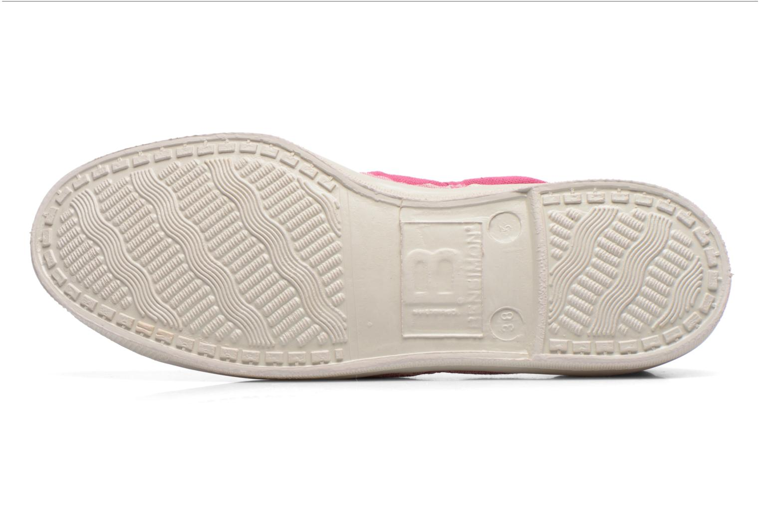 Baskets Bensimon Tennis Lacets Rose vue haut