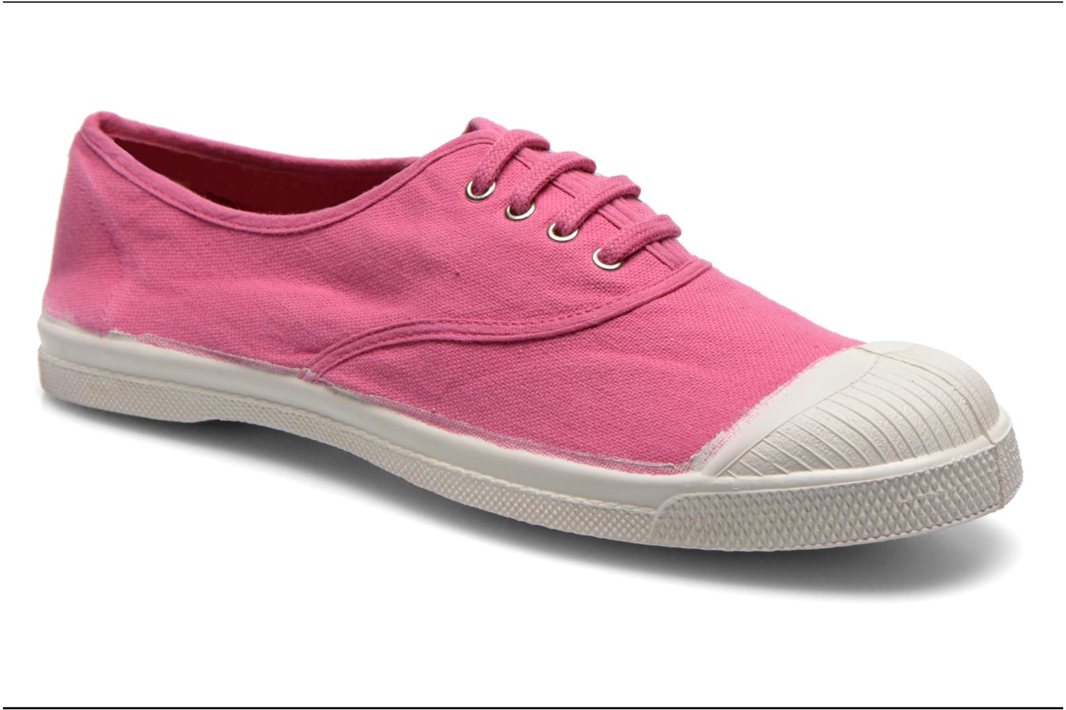 Baskets Bensimon Tennis Lacets Rose vue détail/paire