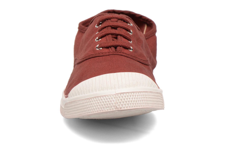 Baskets Bensimon Tennis Lacets Bordeaux vue portées chaussures