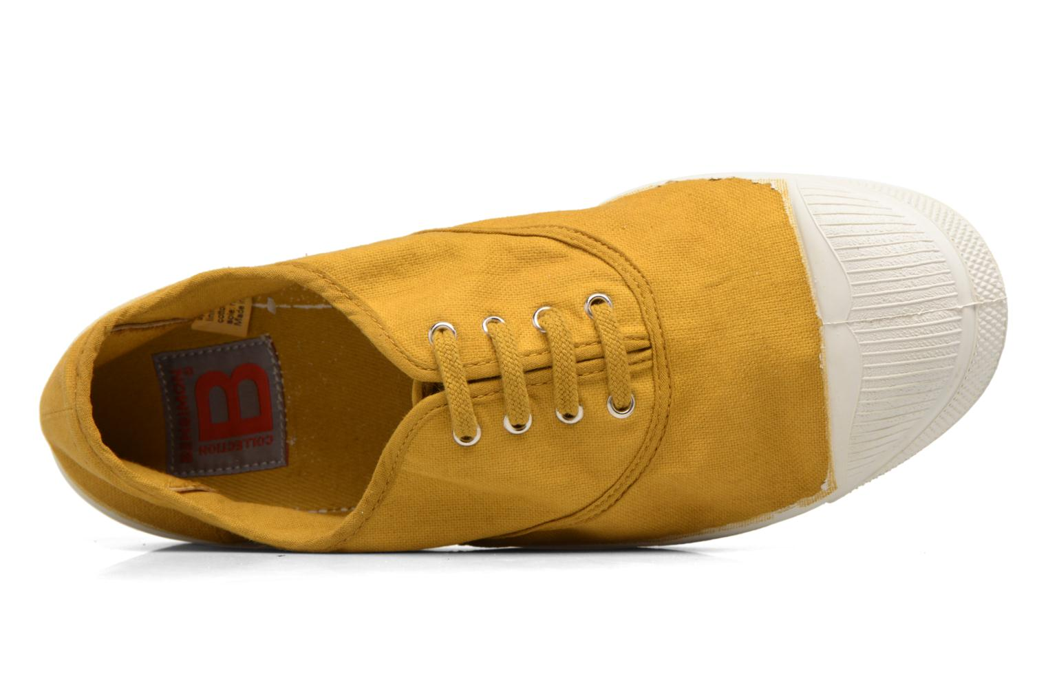 Trainers Bensimon Tennis Lacets Yellow view from the left