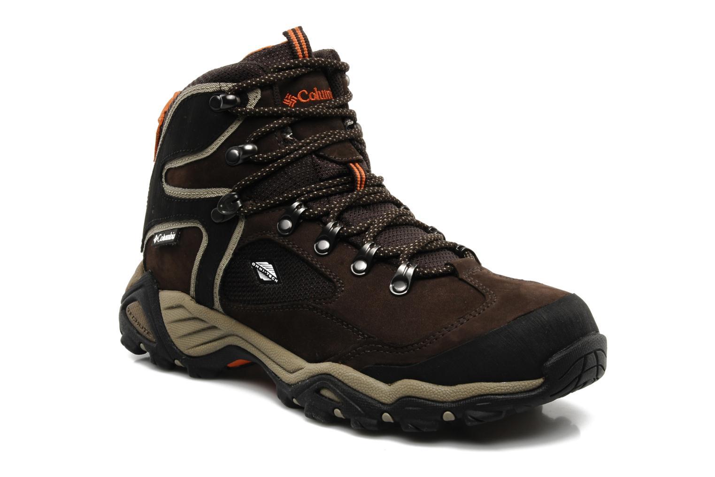 Chaussures de sport Columbia Pole creek omni-tech Marron vue détail/paire