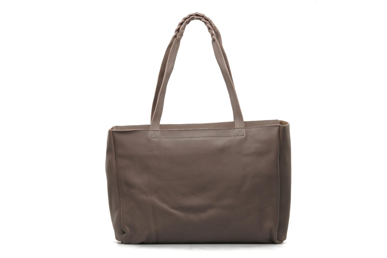 Handbags Petite mendigote QUEEN VICTORIA CABAS Grey front view