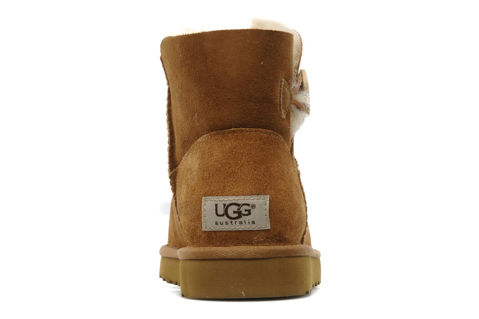 Bottines et boots UGG Mini bailey button Marron vue droite