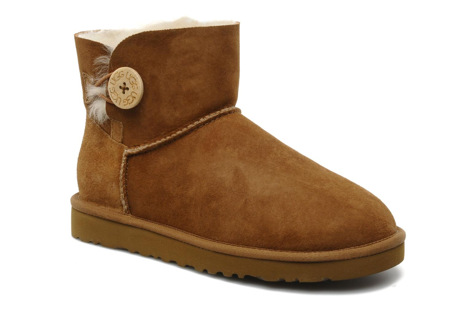 Bottines et boots UGG Mini bailey button Marron vue détail/paire